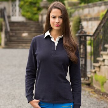 Women's premium superfit rugby shirt - tag-free Vignette