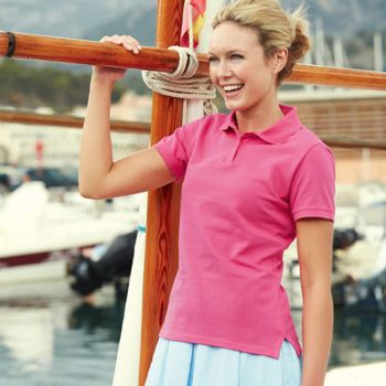 Polo femme de marque Fruit Of The Loom Vignette