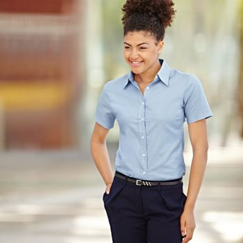 Ladyfit Oxford short sleeve shirt Vignette